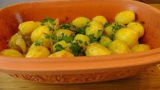 Kartoffeln geschmort im Römertopf